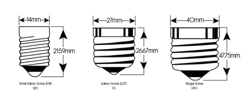 In Bases Also Known As Edison And Light Bulb Sockets Are Used